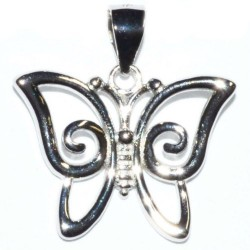 Butterfly Sterling Silver Pendant 3/4""