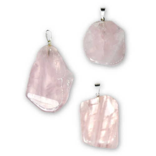 Rose Quartz Slice Pendant