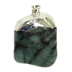 Emerald Tumbled Pendant