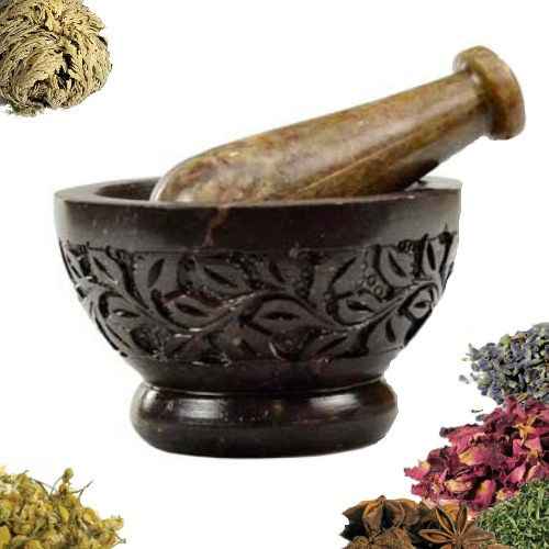 Flower Mortar & Pestle Set