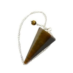Tiger Eye 6 Sided Pendulum 8""