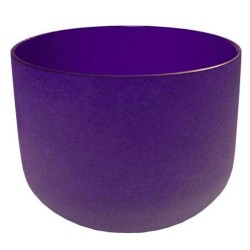 "Tibetan Singing Bowl - 8"" Purple Crystal for Crown Chakra"