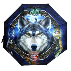 Umbrella - Celtic Wolf Guide by Brigid Ashwood