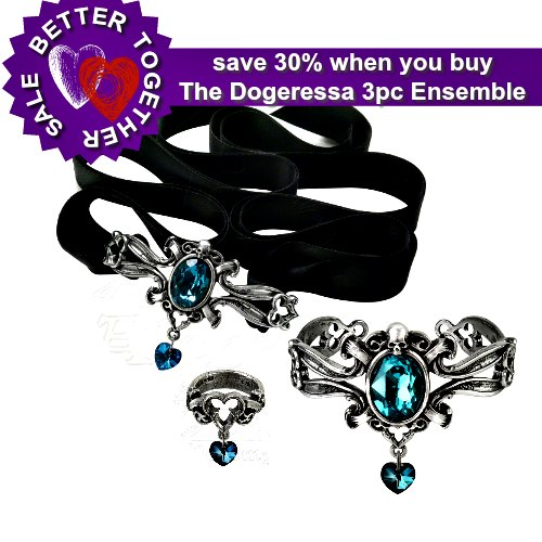 The Dogaressas's Last Love Choker, Bracelet & Ring Ensemble