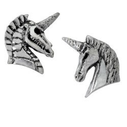 Gothic Unicorn Earrings