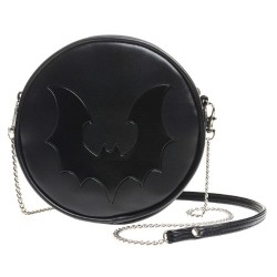 Black Bat Canteen Bag by Alchemy Gothic