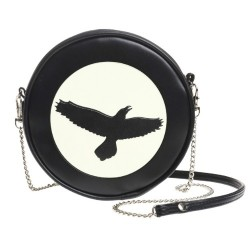 Black / White Raven Canteen Bag by Alchemy