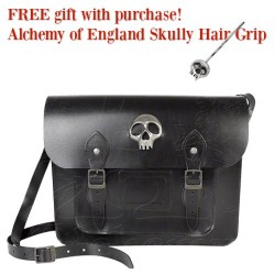 Allice Satchel: Skull's Out Gothic Leather Bag