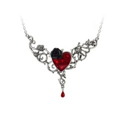 Blood Rose Heart Pendant by Alchemy of England