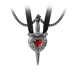 Love is King His & Her Codified Medieval Necklace