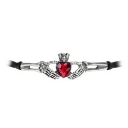 Claddagh By Night Choker by Alchhemy of England