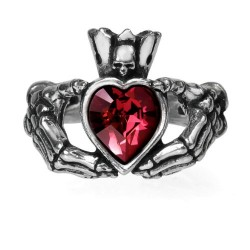 Claddagh By Night Ring by Alchemy Gothic