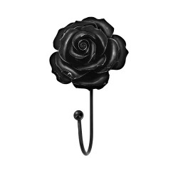 Black Rose Hangers / Tie Back Pair by Alchemy of England