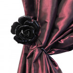 Black Rose Hanger / Tie Back Pair by Alchemy of England