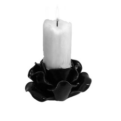 Black Rose Candle Holder / Trinket Bowl