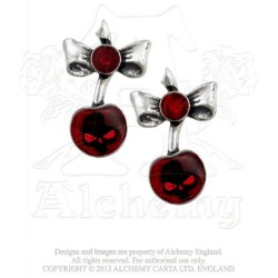 Black Cherry Gothic Earrings by Alchemy of England