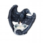 Raven Tea Light Figure