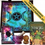 Triple Moon Tie Dye Urban Witch Survival Kit 5pc