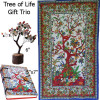 Tree Of Life Gift Trio Tapestry, Gemstone Tree, Journal