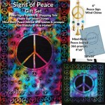 Signs of Peace Gift Set | Tapestry, Tote, Journal & Wind Chime