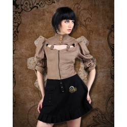Little Black Steampunk Skirt