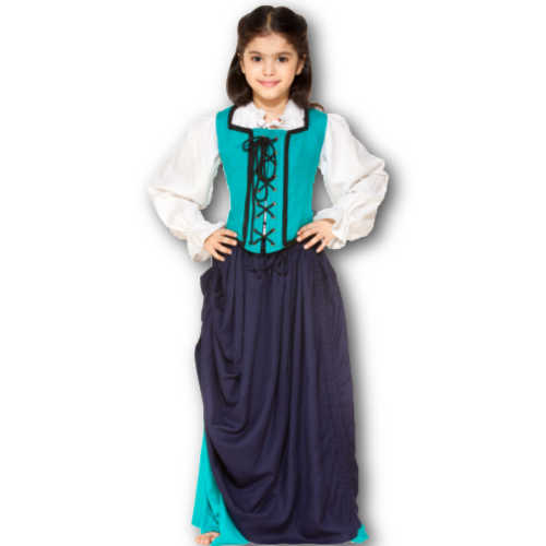 Girls Medieval Double Layer Skirts
