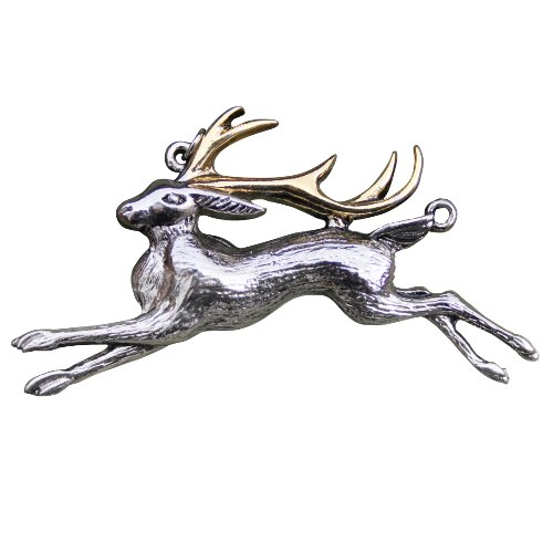 The Jackalope for Warrior's Strength Pendant by Briar Bestiary