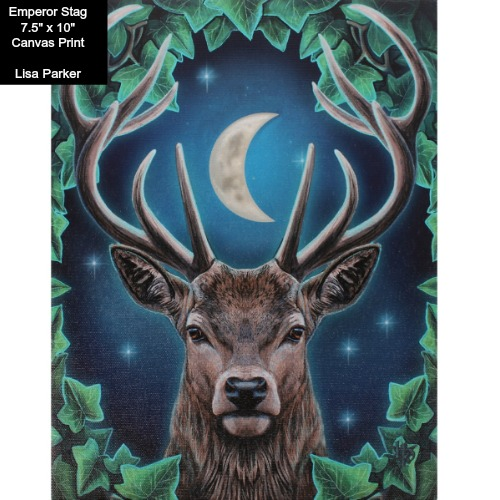 Emperor Stag Canvas Art Print by Lisa Parker