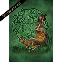 Celtic Hare Card 6 pk