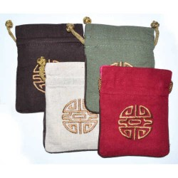"Prosperity Lined Pouch Set of 4 - 4""x5"""