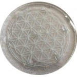 """Crystal Ball Stand - 10"""" Flower of Life for 7 Chakra Set"""