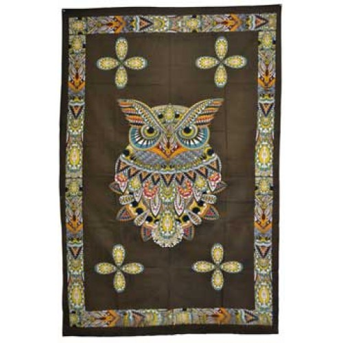 "54"" x 86"" Owl tapestry"