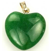 Gemstone Pendant - Green Aventurine Heart