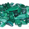 1 lb Malachite tumbled chips 5-8mm