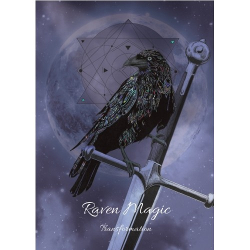 Karin Roberts' Raven Magic Art Card 6 Pack for Transformation