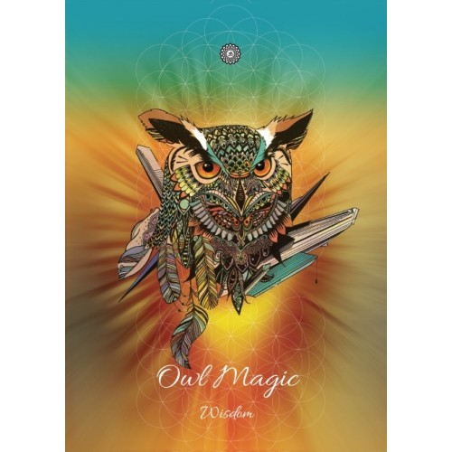 Karin Roberts' Art Card 6 Pack Owl Magic Card for Wisdom