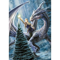Anne Stokes Yule Card 6 Pack - Winter Fantasy