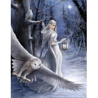 Anne Stokes Yule Card 6 Pack - Midnight Messenger
