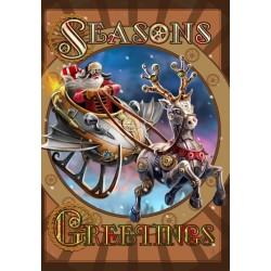 Anne Stokes Yule Card 6 Pack - Steampunk Santa