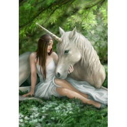 Pure Heart Unicorn Card 6 Pack by Anne Stokes