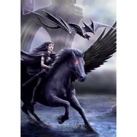 Anne Stokes Mythical Beasts & Fantasy Companion Card 6 Pack - Realm of Darkness Pegasus