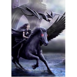 Anne Stokes Realm of Darkness Pegasus Card 6 Pack`