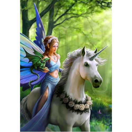 Realm of Enchantment Unicorn Card 6 Pack by Anne Stokes