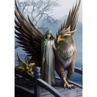 Anne Stokes Mythical Beasts & Fantasy Companion Card 6 Pack - Realm of Tranquility Griffin