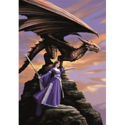 Anne Stokes Sentinel Dragon Card 6 Pack