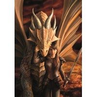 Anne Stokes Mythical Beasts & Fantasy Companion Card 6 Pack - Inner Strength Dragon