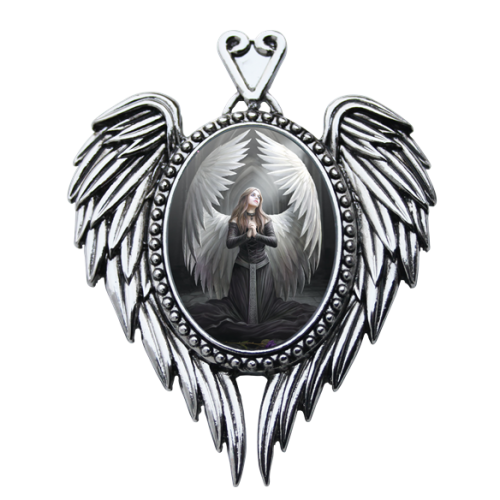 Anne Stokes Enchanted Cameo - Prayer For The Fallen
