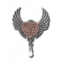 Anne Stokes Engineerium Range - Valkyrie Heart Pendant for a Warrior's Heart