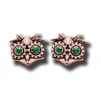 Anne Stokes Engineerium Range - Aviamore Owl Earrings for Freedom of Mind