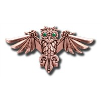 Anne Stokes Engineerium Range - Aviamore Owl Brooch for Freedom of Mind